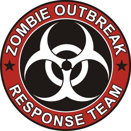 Preisvergleich Produktbild Aufkleber Zombie Outbreak Response Team Cool Vinyl Decal Bumper Sticker (Decal Kingz) 100x100 mm