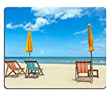 Liili Mouse Pad Natural Rubber Mousepad IMAGE ID 32084897 Three beach chairs
