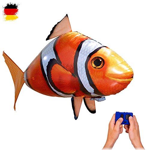 RC ferngesteuerter fliegender Clown-Fisch - Ferngesteuerter Riesenfisch, mit Helium gefüllt schwebt er in der Luft, Neu (Anleitung Ballon-tiere)