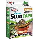 Doff Dofam004ds 4m ruban Cuivre adhésif anti-limaces et escargots–Multicolore