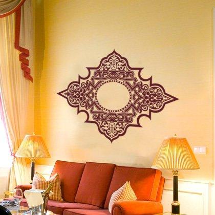 INDIGOS UG - WANDTATTOO / Wandsticker / Wandaufkleber / Aufkleber - W251 Ornament, Orient Farbwahl 48 Farben 80x55 cm