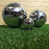 Set of 3 Ornamental Stainless Steel Spheres (10cm/20cm/30cm)