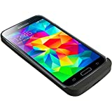 S5 Battery Case, 3800mAh Ultra Slim Rechargeable Extended Portable Backup Power Bank Case with Kickstand for Samsung Galaxy S5 (Black)