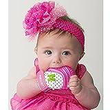 Mouthie Mitten - Muffola a guanto dentizione silicone - diversi colore - Rosa, Dalla nascita - 12 Mesi circa