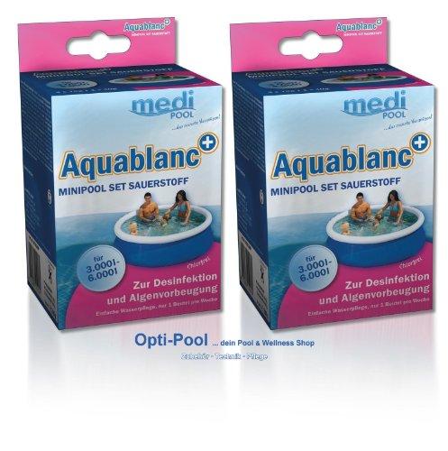 Minipool Set Sauerstoff - 2 x Aquablanc 0,32 kg chlorfreie Wasserpflege mediPOOL