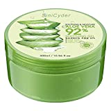 Aloe Vera Gel,Sinicyder Natürliche Feuchtigkeitspflege Aloe Vera Creme Für Gesicht, und Körper, 300ml, Pure & Natural für gesunde glatte Haut, für den täglichen Gebrauch