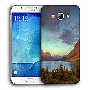 Snoogg Red Mountains Printed Protective Phone Back Case Cover For Samsung Galaxy Note 5