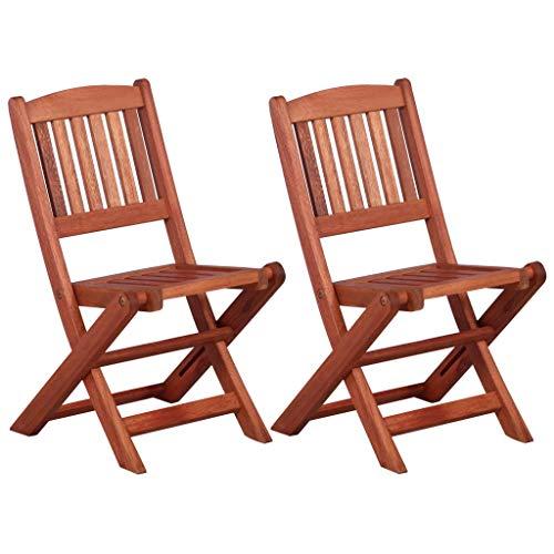 Festnight Bistro-Set für Kinder 3-TLG. | Holz Balkon-Set | Klappbar Terassen Set | Balkongarnitur | Gartenmöbel Set 2 Klappstühle & 1 Klapptisch | Massiv Eukalyptusholz