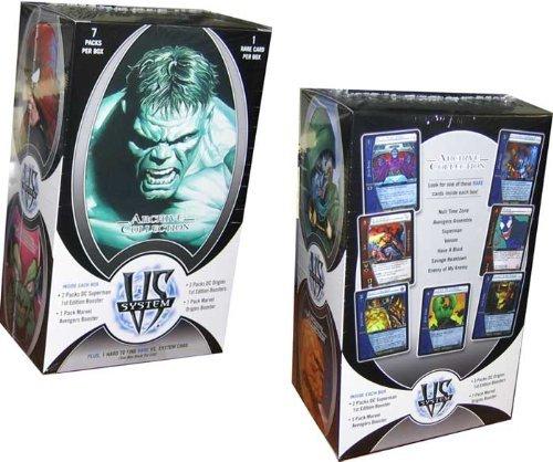 Marvel DC VS System Trading Card Game Archive Collection 7 Packs + Rare Bonus... (Vs-system-box)