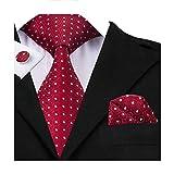CAOFENVOO - Cravate - Homme - rouge - Taille Unique