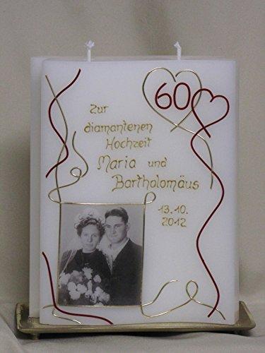 n Hochzeit ♥ Hochzeitskerze ♥ inkl. Namen, Datum und Foto ♥ , J 22 ()