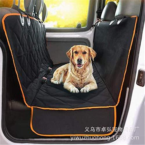 RuiHuang Haustier Hund Auto Hinten Rücksitz Abdeckung Decke wasserdichte Kissen Protector Hängematte Hundesitze Schwarz Stil 1 -