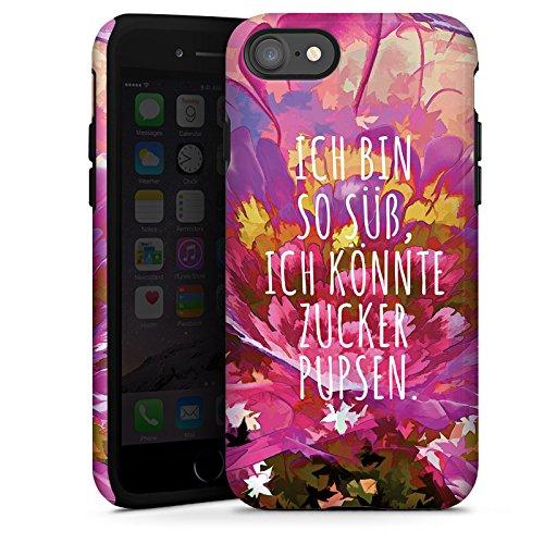 Apple iPhone X Silikon Hülle Case Schutzhülle sprüche statement sprueche Tough Case glänzend