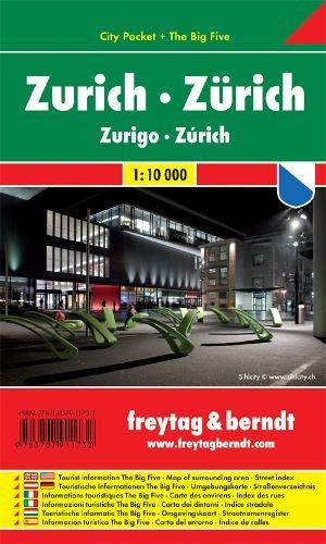 Zurigo 1:10.000: Stadskaart 1:10 000