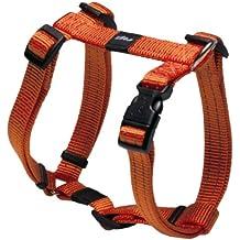 Rogz utilidad tamaño mediano 5/8-inch serpiente reflectante ajustable perro h-harness