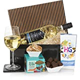 Wein-Präsentkorb für ihn - Präsent- und Geschenkkörbe für Männer - Rotwein & Schokoladen - Ein perfektes Geschenk für jeden Anlass