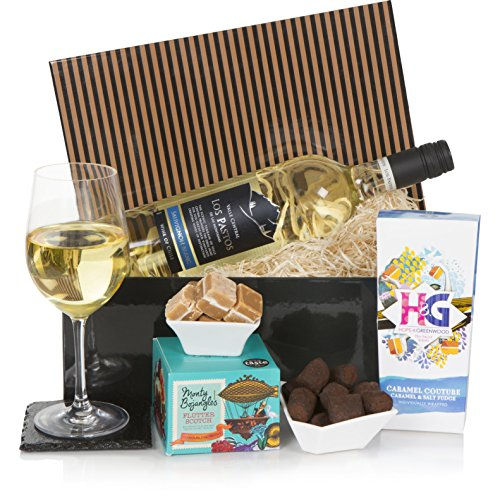 The Luxury Wine Hamper For Him or For Her - Wine Hampers and Gift Baskets- White Wine & Chocolates