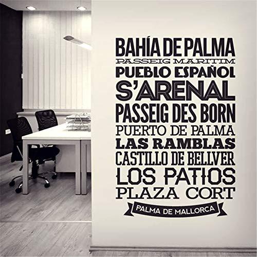 pegatina de pared pegatina de pared 3d Citar vinilo decorativo español tipográfico Palma De Mallorca para sala de estar