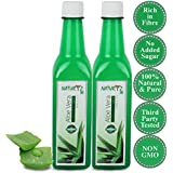 Naturyz Aloe Vera Juice – 2 X 500ml, With Fiber- With No Added Sugar-100% Natural & Pure - Combo (Pack Of 2)