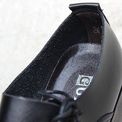 Lavoro Scarpe Business In Chnhira Indicò Britannico Pelle Nero BBwAYC6qP