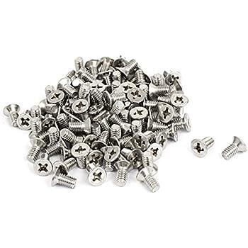BZP confezione da 100 placcata in zinco, /%2FBolts viti Pozidriv testa Mch viti M4 4 mm x 10 mm