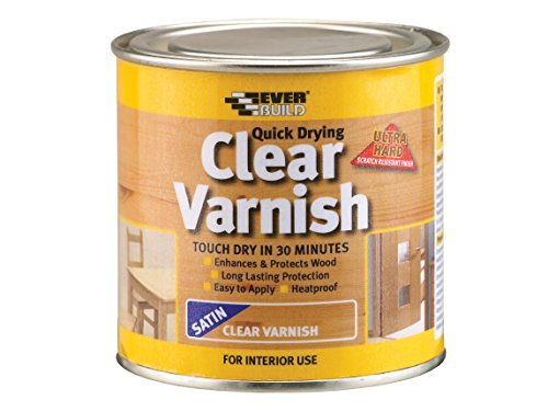 Everbuild EVBWVARCLS02 Quick Dry Wood Varnish Satin Clear 250 ml