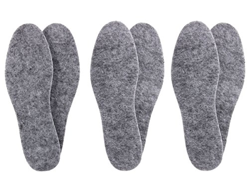 biped 3 pairs of extra thick felt insoles -Insulating and durable z1014