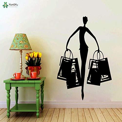 woyaofal Wandtattoo Vinyl Kunst Wohnkultur Shop Schönheitssalon Kleid Wandaufkleber Abnehmbare Mode Wandbild Poster 80X108 cm