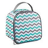 Fit & Fresh 10-Piece Gabby Smart Potion Lunch Bag Set in Aqua/Grey Chevron