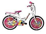 """IBK Bici Bicicletta Bambina Love Misura 20"""" Colore Bianco con PARAFANGHI (Bianco)"""