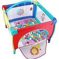Parc- De Bébé pour Tout-Petits, De Jeu Pliable pour Bébés, Barrière De Sécurité Portable avec Balles Et Tapis, 2 Tailles (Taille : 120x120cm)