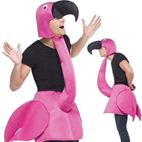 Für Lustige Tierkostüm Erwachsene - Amakando Vogelkostüm JGA Tierkostüm 1 TLG. Flamingokostüm Flamingo Kostüm Karnevalskostüme Tier Vogel Karnevalskostüm Faschingskostüm lustig
