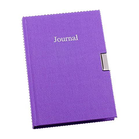 Esposti A5 Personal Journal Undated Lockable Linen Cover - Lilac