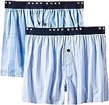 BOSS Herren Boxershorts Webboxer Woven EW 2er-Pack BM, Blau (Open Blue 469), X-Large (Herstellergröße: XL)