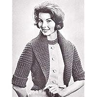 Knit Hug Me Tight Bolero Sweater #B-233 Knitting Pattern Sizes 32 34 36 38 40 (English Edition)