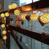 Water Drop String Lights, Wanshop® 20 USB Charging LED Window Curtain Lights String Ball Lamp House Party Decor For Garden, Party, Wedding, Christmas, Trees, Bedroom, Curtains (Yellow)