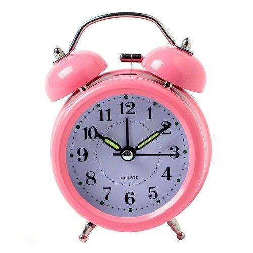 surborder Shop Pink 7,6cm Twin Bell Analog Wecker batteriebetrieben-Lauter Alarm Uhr
