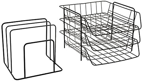 Fellowes 72331 Wire Triple Tray with Sorter, Front Load, Letter