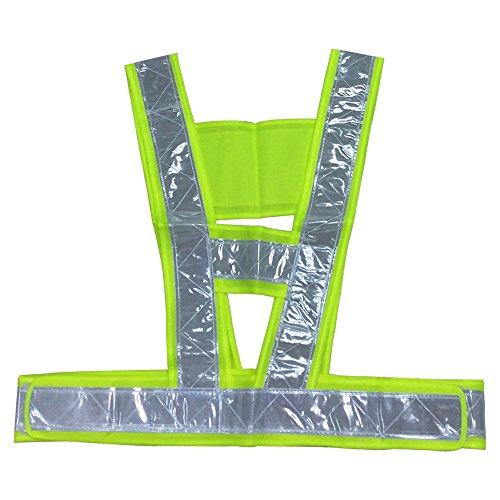 Yuauy Premium Warnweste für hohe Sicherheit, Sichtbarkeit, Grün Traffic Safety Vest