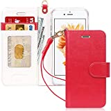 Custodia iphone 6s,Custodia iphone 6,Fyy [Serie Ottime] Lussuosa Custodia del Cuoio Genuino Copertura Tutta Potente per iPhone 6 4.7 Rosso