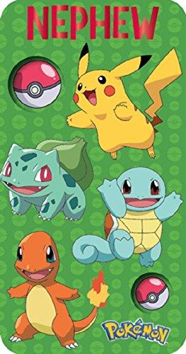 Pokemon Neffe Anime Schlanke Geburtstagskarte 250602