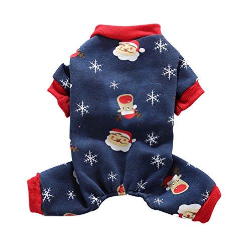 17years Weihnachten Haustier Kleidung Coat Jumpsuit (Hund Schlafanzug Thermische Kleidung)