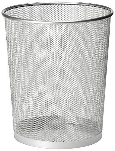 Osco WB27.5-SLV - Papelera de malla metálica, color plateado