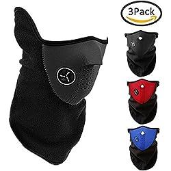 3Pcs extérieures chaudes demi-masques pour l'équitation moto randonnée ski snowboard