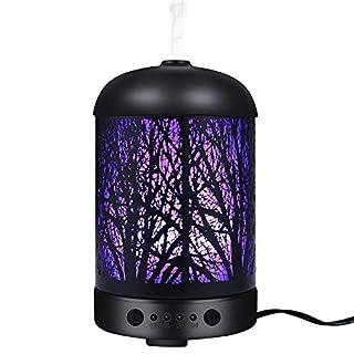 COOSA Luftbefeuchter 100ml Standard tragbare aroma diffuser, ätherisches Öl Diffusor Luftbefeuchter für Aromatherapie Humidifier mit 7 LED-Licht für Yoga Salon Spa Wohn-, Schlaf-, Bade- oder Kinderzimmer Hotel
