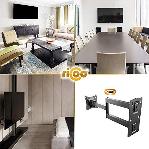 RICOO Monitor Wand-Halterung Schwenkbar Neigbar S2911 Monitor-Halter Wandhalterung-TV LCD LED Wandhalter fuer Flach-Bildschirm PC-Monitor 43-49-54-61-68cm / 17′ 19′ 22′ 24′ 27′ Zoll | VESA max. 100 x 100 universell | Wandabstand nur 68 mm | - 4