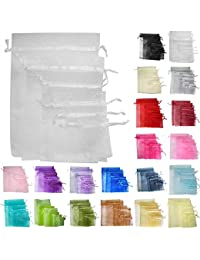 Time to Sparkle TtS 200pcs 30x40cm Organza Gift Bags Wedding Party Favour Jewellery Packing Pouches - White