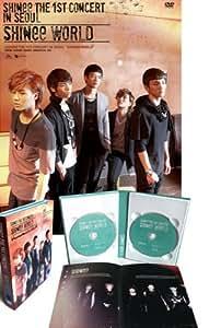 Kpop DVD, SHINEE The 1st Concert in Seoul SHINee WORLD 2 DVD [Region Code : 3] + PHOTOBOOK + Poster (Folded) *New & Sealed*