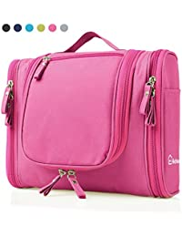 Heavy Duty Waterproof Hanging Toiletry Bag - Travel Cosmetic Makeup Bag for Women & Shaving Kit Organizer Bag for Men - Large Size: 26*11.5*21.5cm