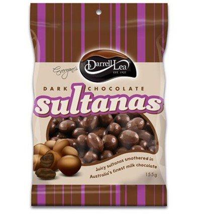 darrell-lea-dark-chocolate-sultanas-155g